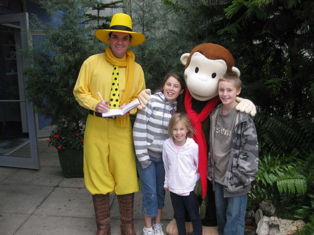 Man in the Yellow Hat and Curious George Universal Studios Orlando 2009