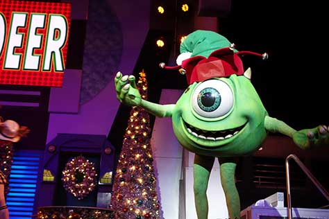 mike wazowski mickey christmas party magic kingdom disney world