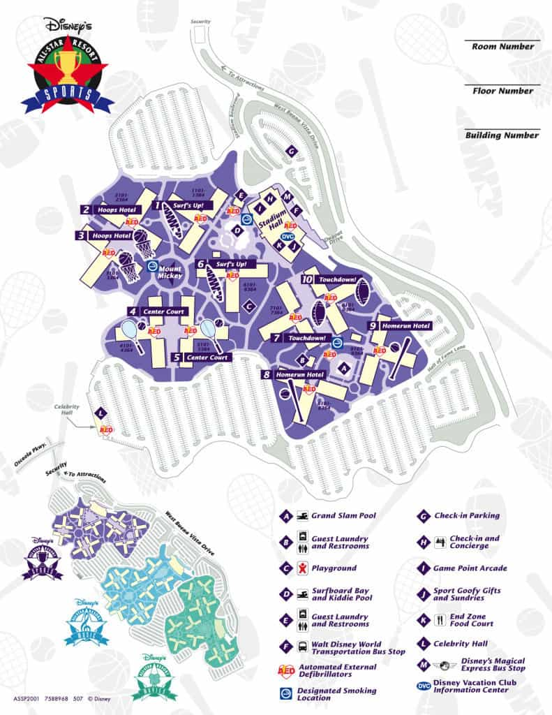 All Star Sports Map