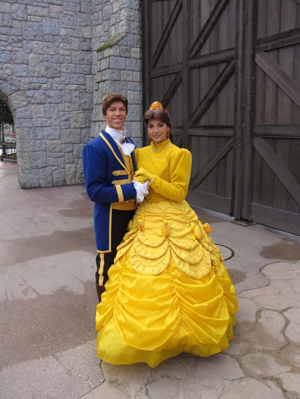 Disneyland Paris, Characters, Belle, Beast, Prince Adam