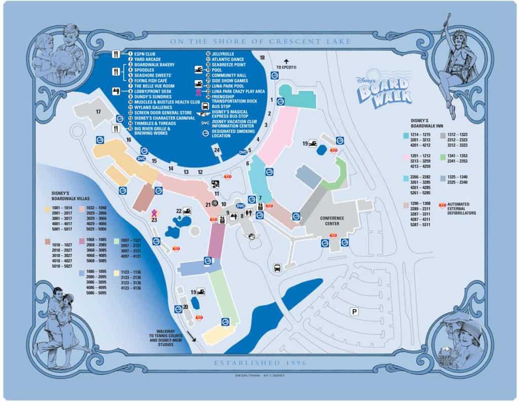 Boardwalk Resort Map
