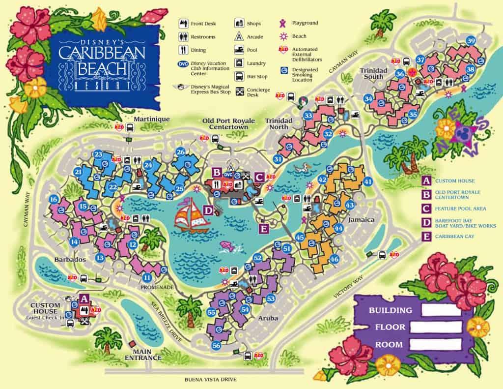 Caribbean Beach Map