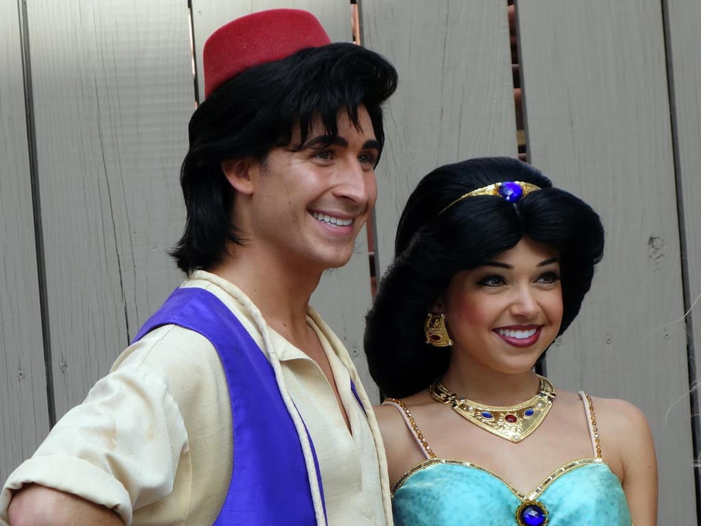 Aladdin and Jasmine at Character Palooza in Hollywood Studios