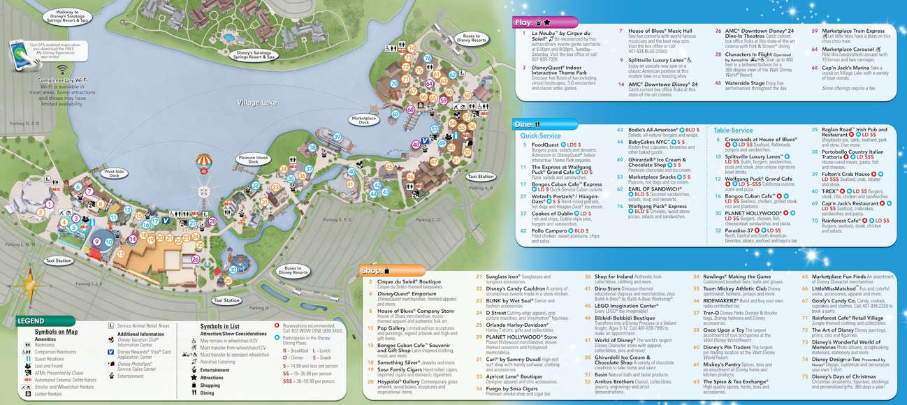 Downtown Disney Maps | KennythePirate's Guide to Disney World