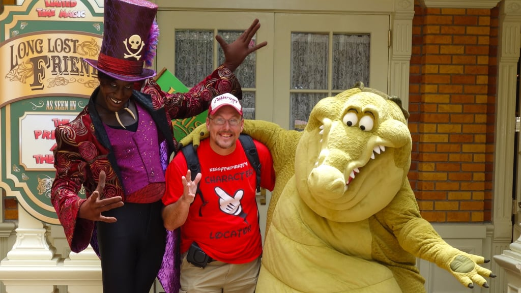 KtP with Dr. Facilier and Louis at Long-lost Friends Magic Kingdom Disney World