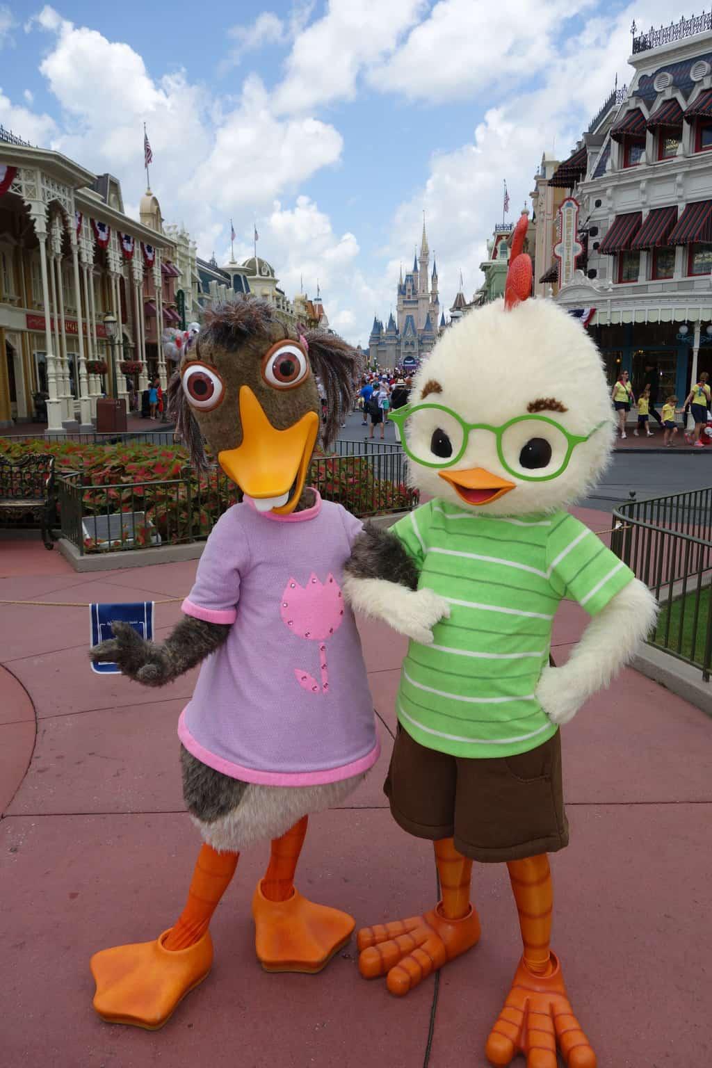 Abby Mallard and Chicken Little at Long-lost Friends Magic Kingdom Disney World