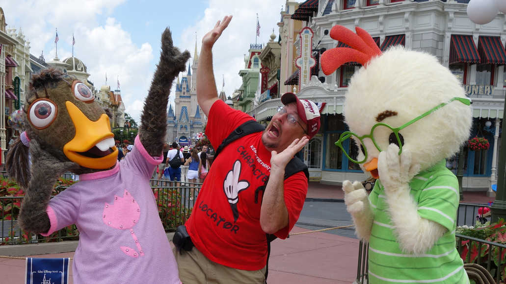 Abby Mallard and Chicken LittleLong-lost Friends Magic Kingdom Disney World