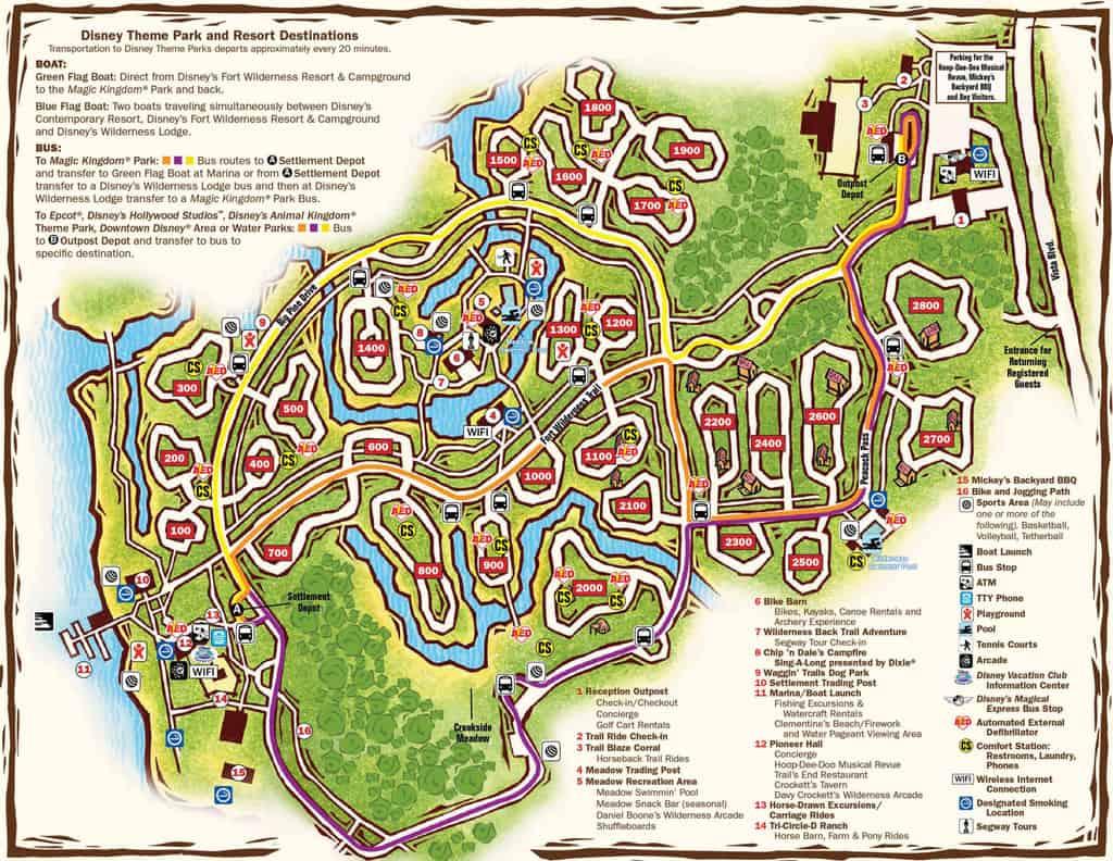 Fort Wilderness Map Kennythepirate Com