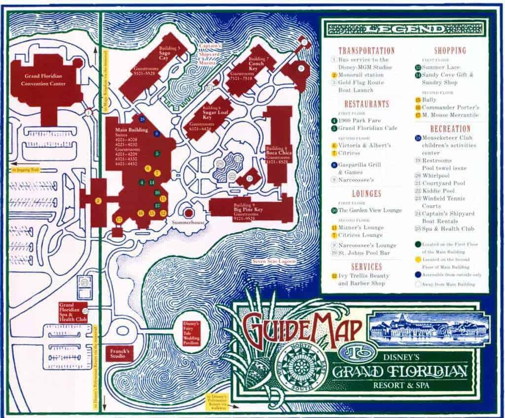 Grand Floridian Resort Map