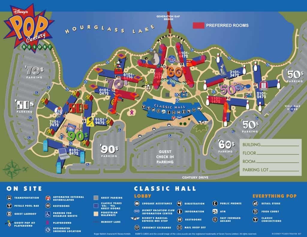 Pop Century Map