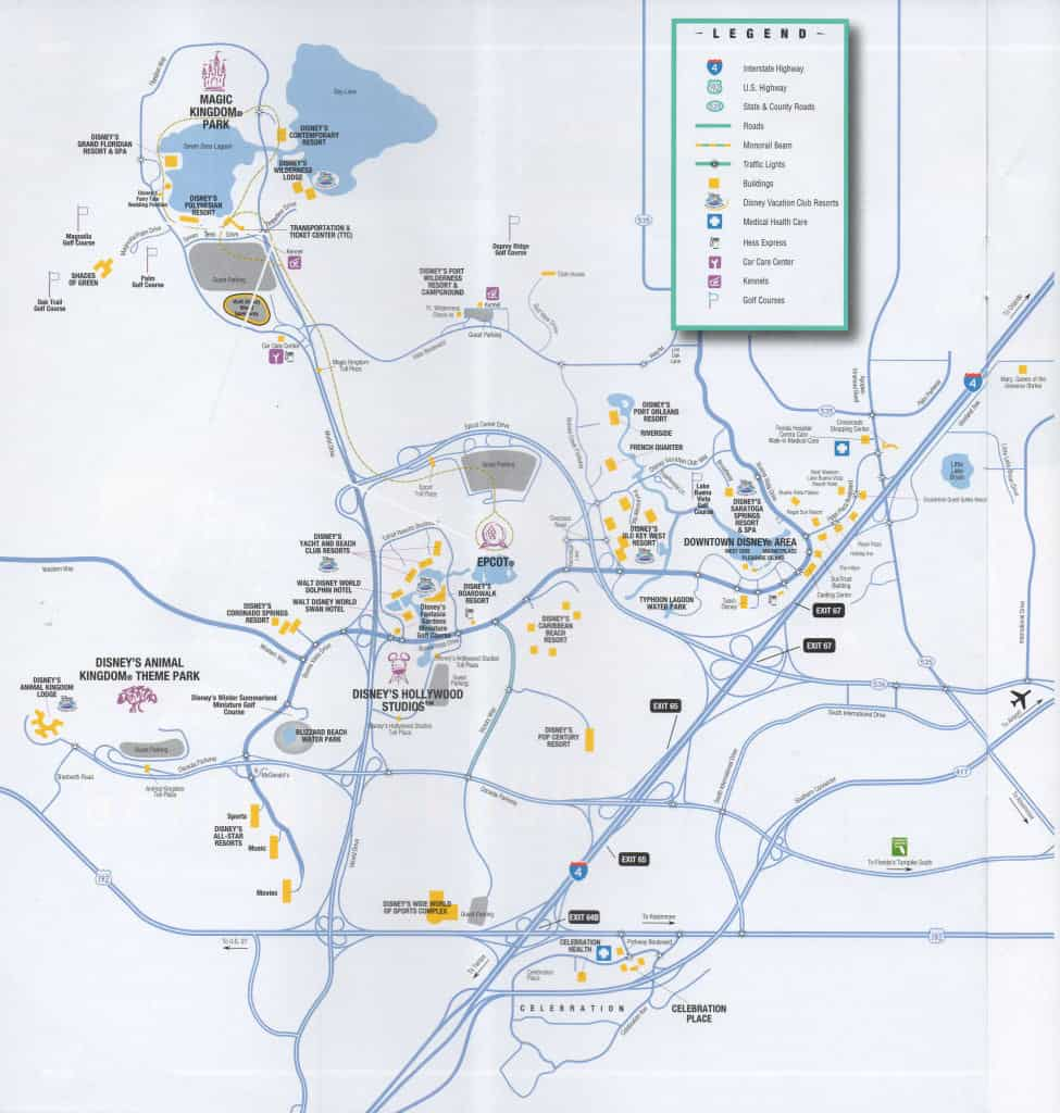 Walt Disney World Transportation Maps