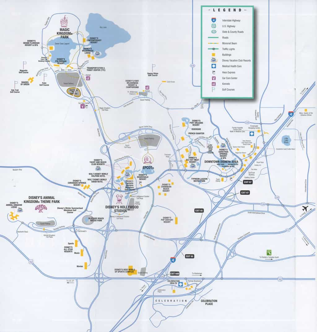 disney world transportation map 2018