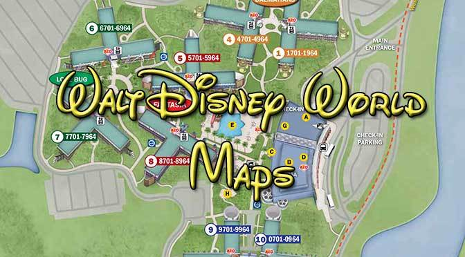 Walt Disney World Resort Maps | KennythePirate.com