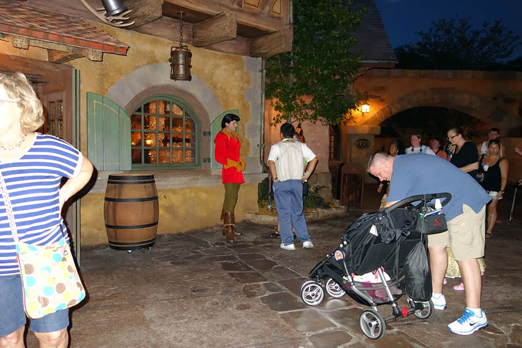 Gaston was pretty popular, especially early in the party.