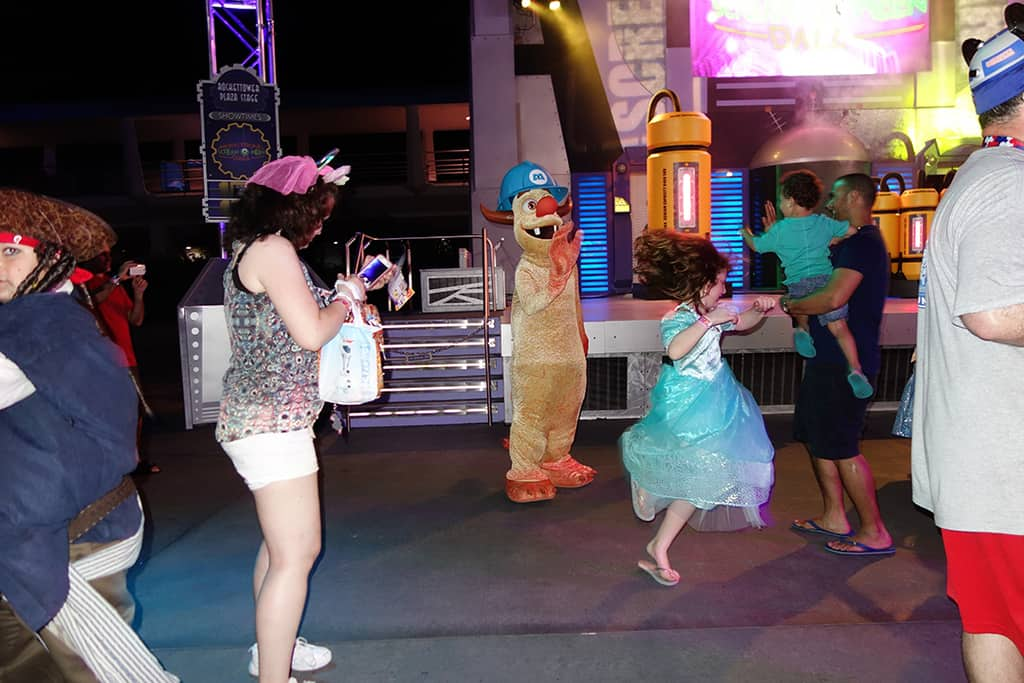 Needleman.  That little girl seems to be having a really great time.  We know that Disney doesn't offer enough dance parties.