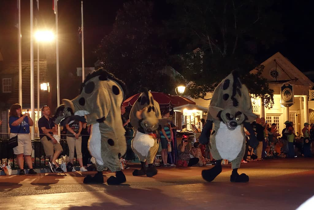 Hyenas at Boo to You Parade