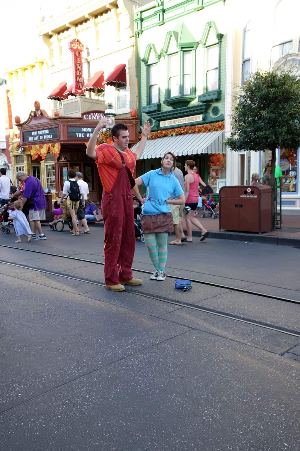 Wreck it Ralph and Vanellope were popular costumes this year.