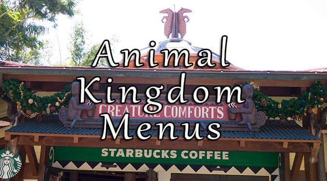 Animal Kingdom Menus