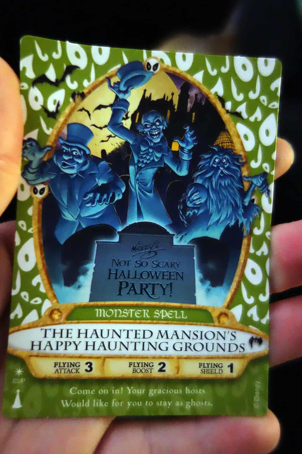 This is the Limited Edition Sorcerers of the Magic Kingdom card.  The thing is fetching like $50 on Ebay.  Hmmm pirate, ebay, free mnsshp visit...  Give me two $20's or dinner at a nice restaurant and it's yours :)