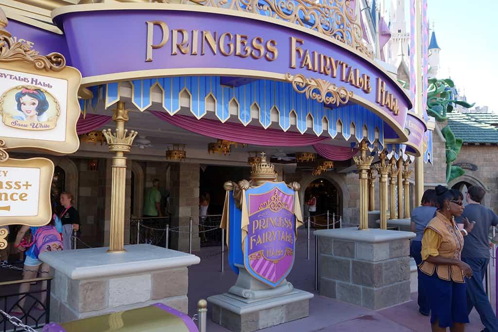 Princess Fairytale Hall Walt Disney World Magic Kingdom Exterior (7)