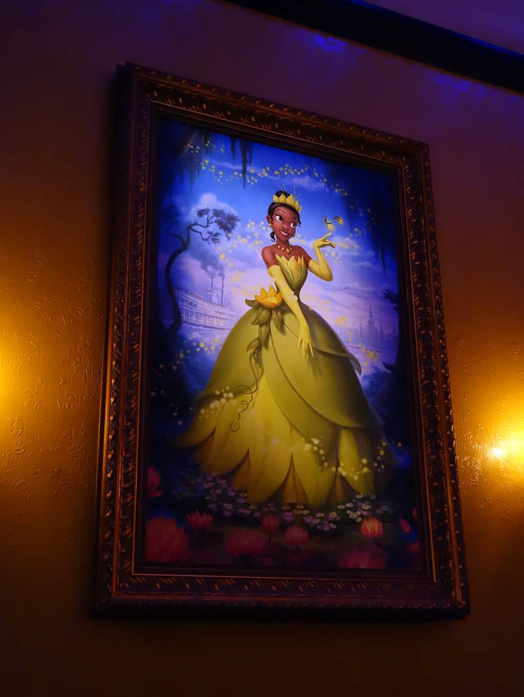 Tiana still meets in the glade, but it's a pretty picture, right?
