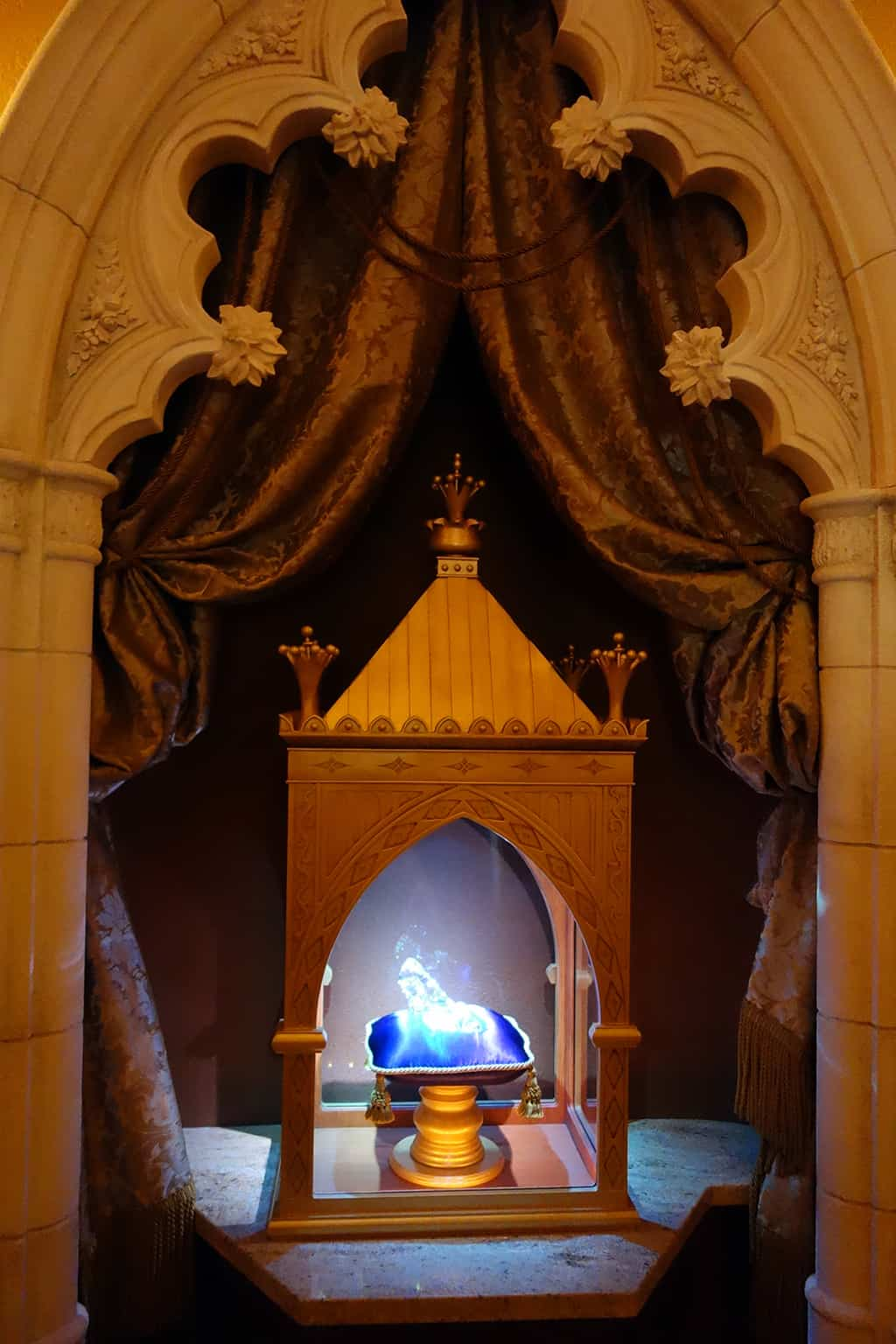 The glass slipper from the movie Cinderella