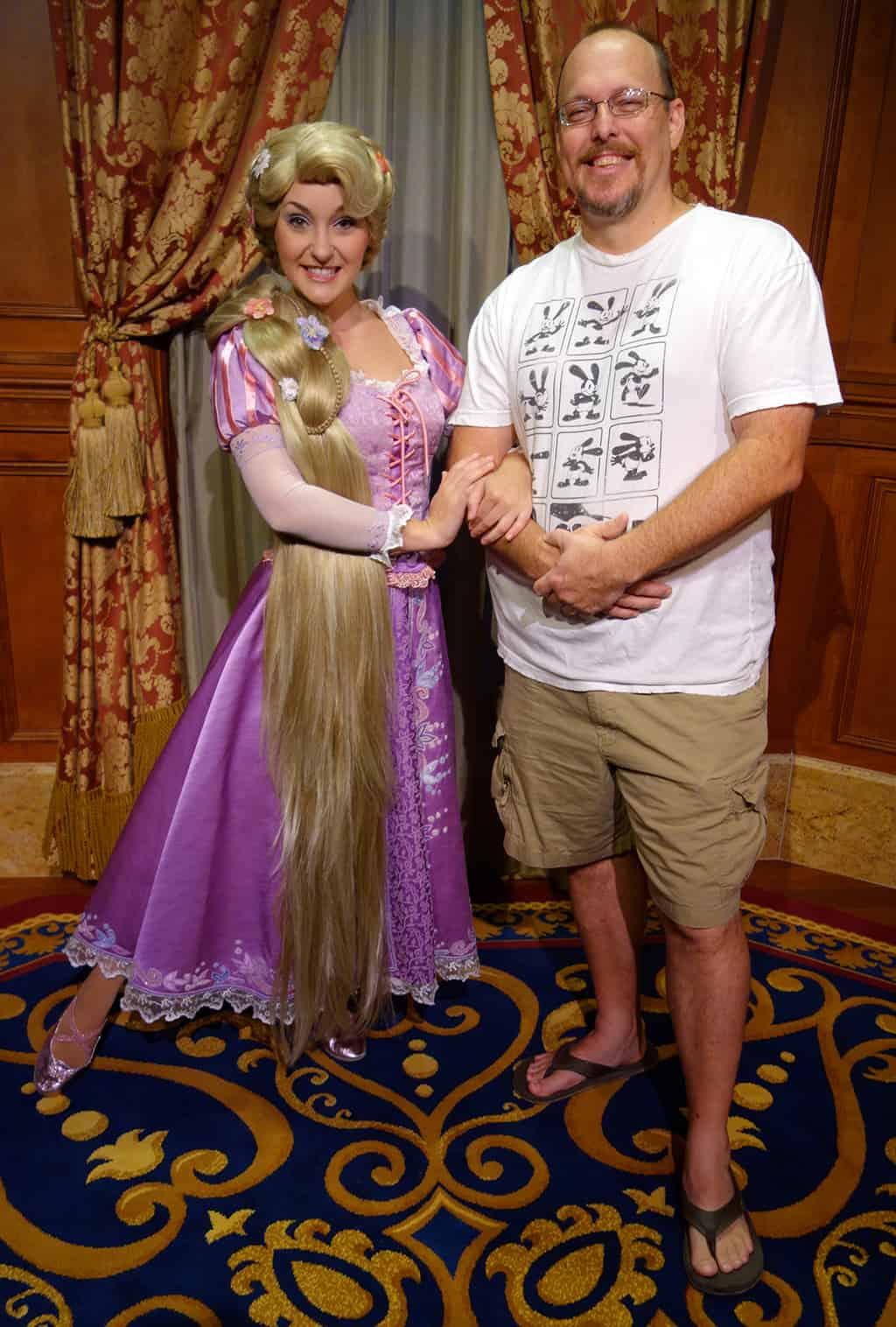 Rapunzel inside Princess Fairytale Hall