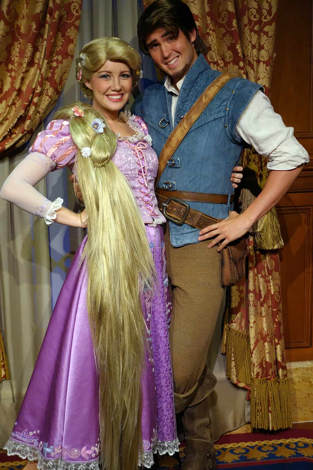 Princess Fairytale Hall Walt Disney World Magic Kingdom Rapunzel and Flynn (4)