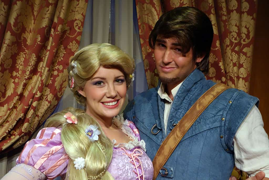 Princess Fairytale Hall Walt Disney World Magic Kingdom Rapunzel and Flynn (6)