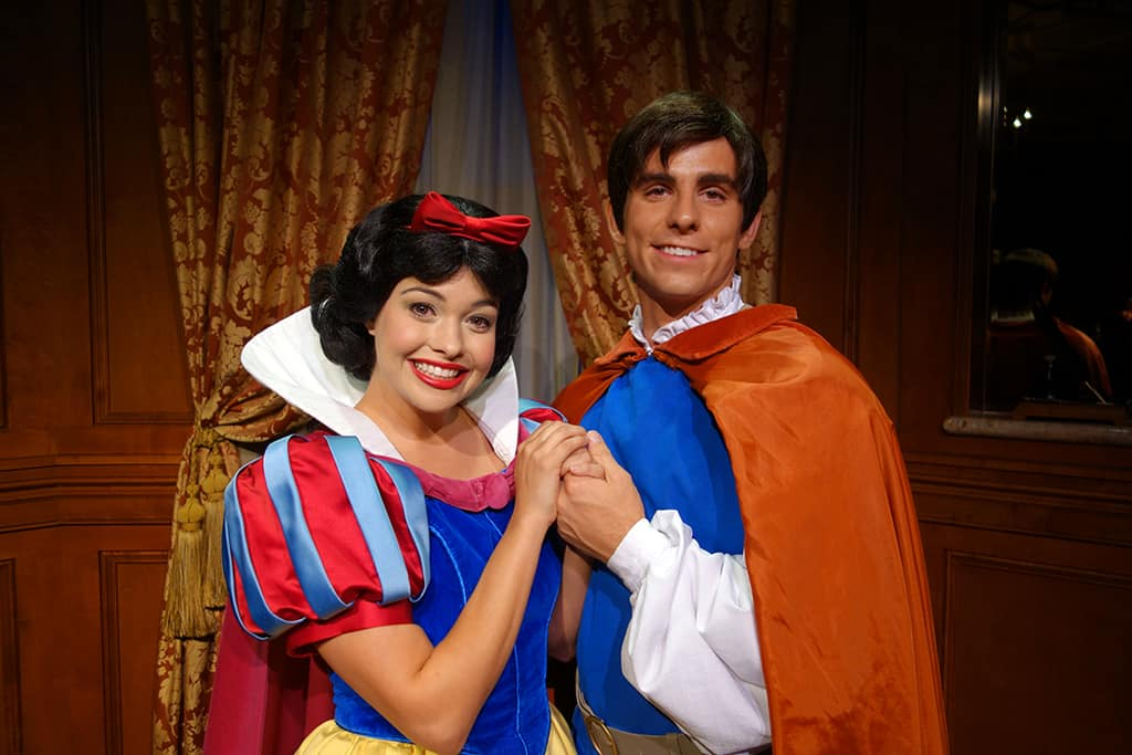 Princess Fairytale Hall Walt Disney World Magic Kingdom Snow White and Prince (1)