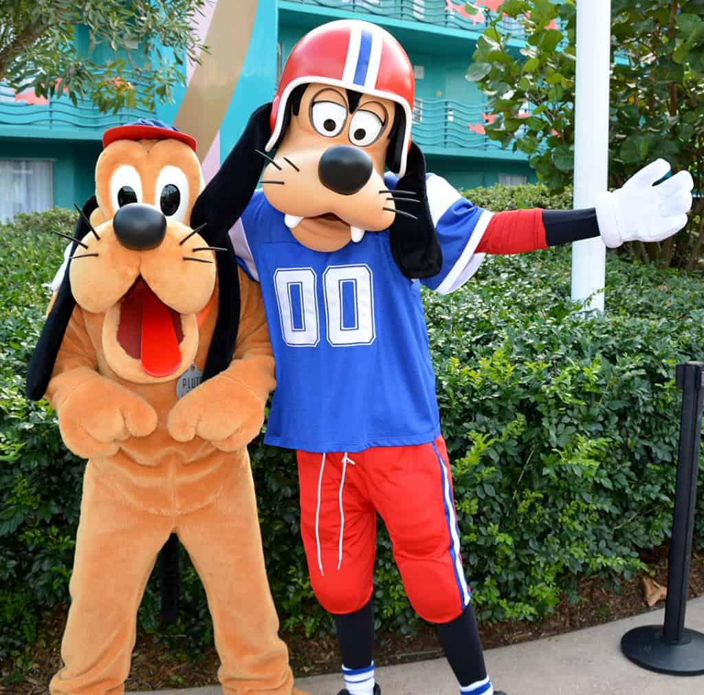Walt Disney World, Character Meet and Greet, Halloween, All Star Sports, Pluto, Goofy