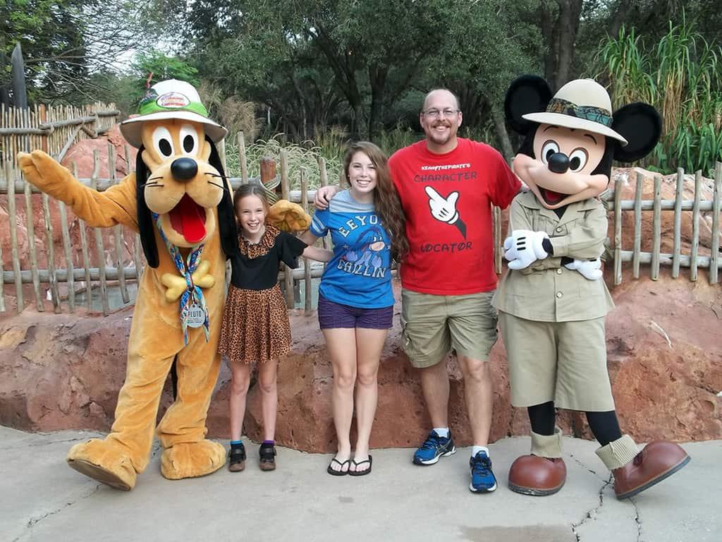 Walt Disney World, Character Meet and Greet, Halloween, Animal Kingdom Jambo House, Pluto and Mickey