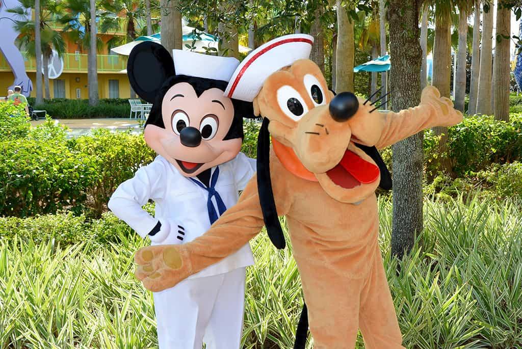 Walt Disney World, Character Meet and Greet, Halloween, Pop Century Resort, Sailor Mickey, Pluto