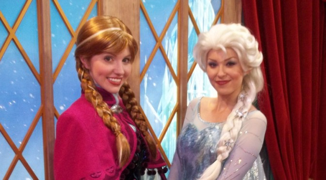 Anna and Elsa, Epcot, Norway, Frozen Meet and Greet, Anna and Elsa meet and greet