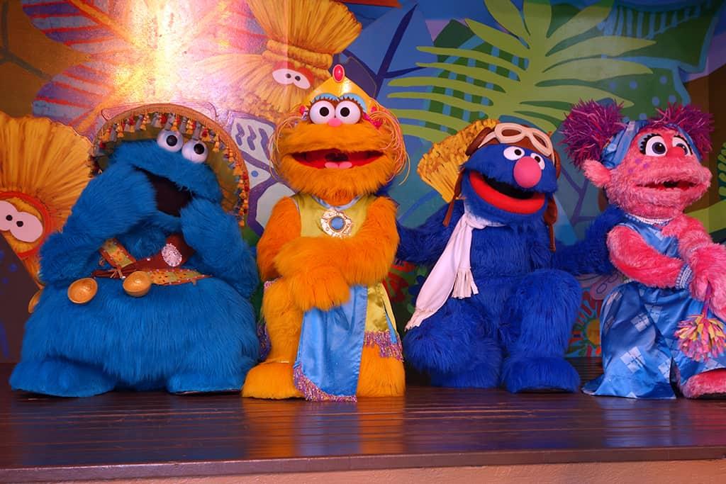 Busch Gardens Tampa Sesame Street Characters  Cookie Monster Zoe Grover Abby Cadabby (2)