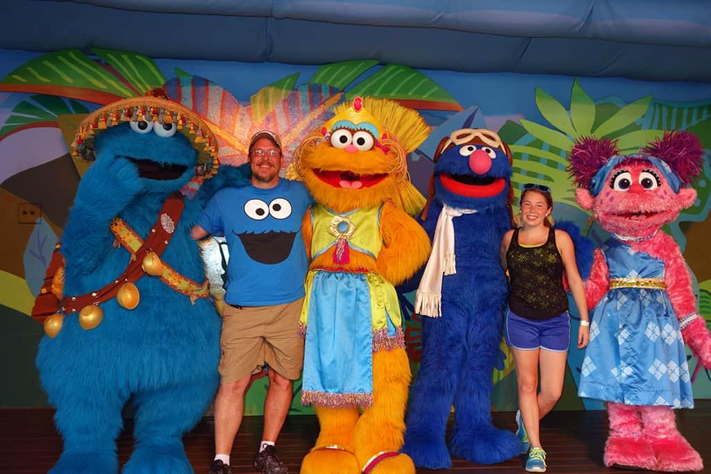 Busch Gardens Tampa Sesame Street Characters  Grover Zoe Cookie Monster Abby Cadabby