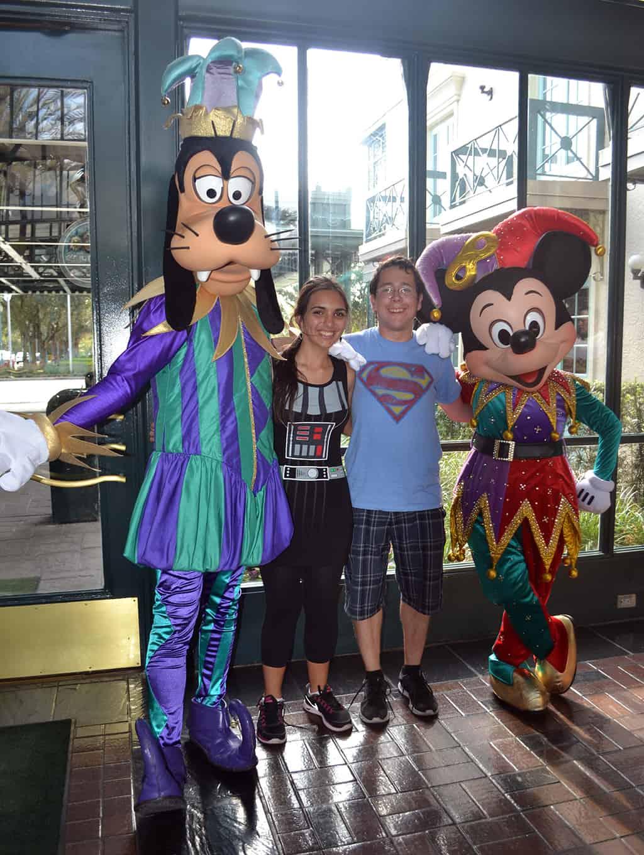Walt Disney World, Character Meet and Greet, Halloween, Port Orleans French Quarter, Jester Goofy, Jester Mickey
