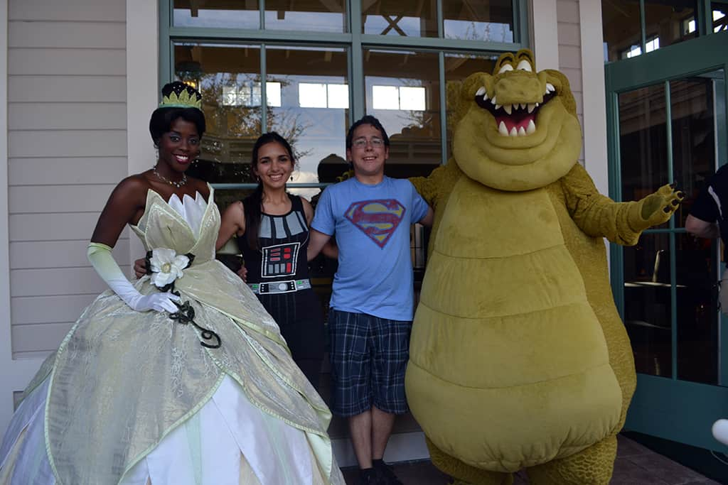 Walt Disney World, Character Meet and Greet, Halloween, Port Orleans Riverside, Princess Tiana, Louis the Alligator