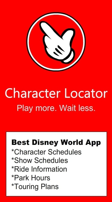 KennythePirates Disney World Character Locator App with Character Schedules, Touring Plans, Park Hours, Wait Times and MORE!