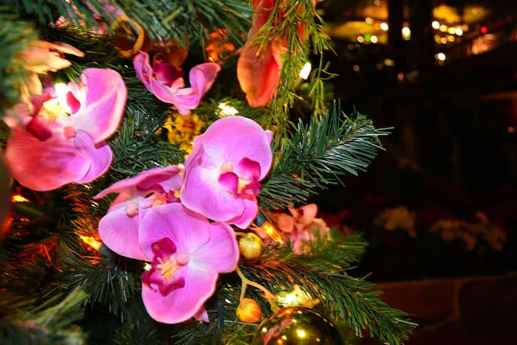 Polynesian Resort Christmas Characters and Christmas Decor (19)