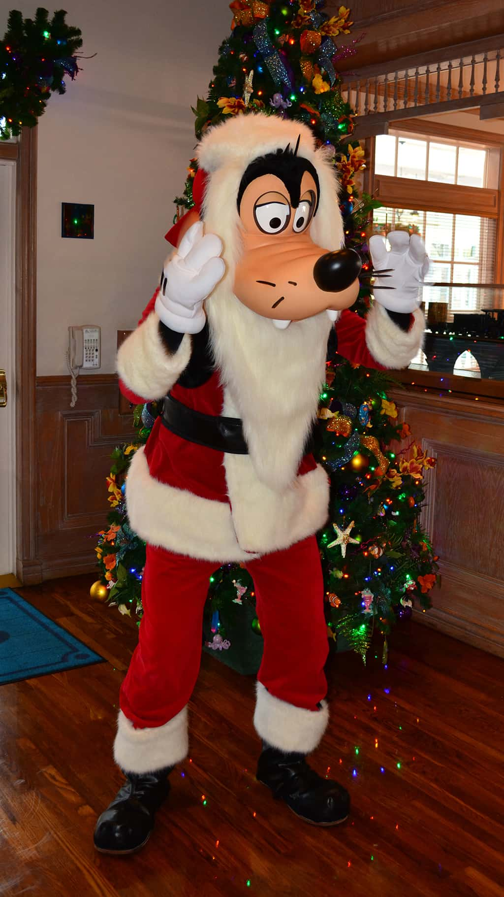 Walt Disney World Old Key West Resort Christmas Characters Santa Goofy Christmas Decor (6)