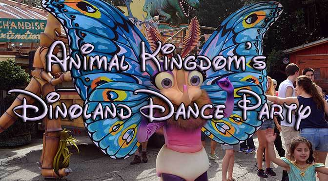 Animal Kingdom's Dinoland Dance Party with photos, video and high quality commentary!