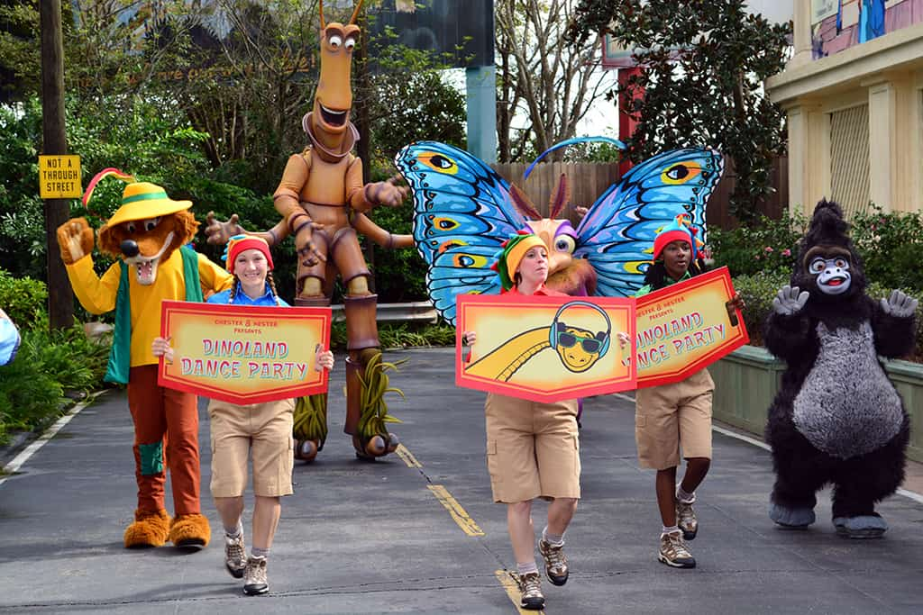 Walt Disney World, Disney's Animal Kingdom, Dinoland Dance Party, Slim, Gypsy, Terk, Brer Fox