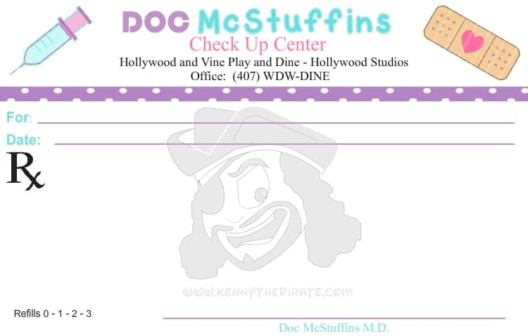 Doc McStuffins Prescription Kenny the Pirate half page ...