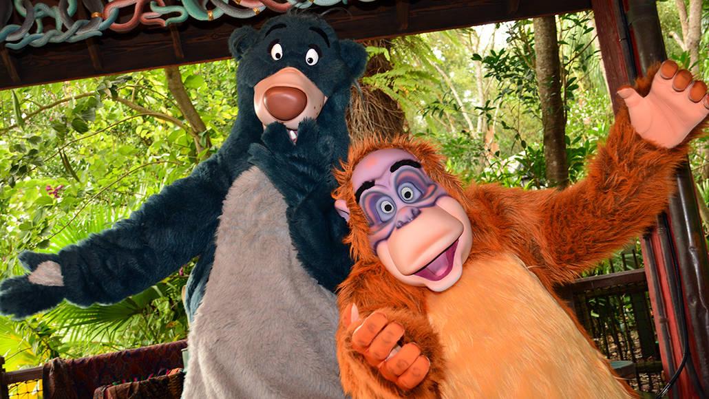 Walt Disney World, Animal Kingdom, Character Changes, January 2014, Baloo and King Louie
