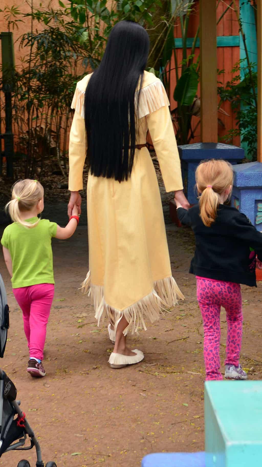 Walt Disney World, Animal Kingdom, Character Changes, January 2014, Pocahontas