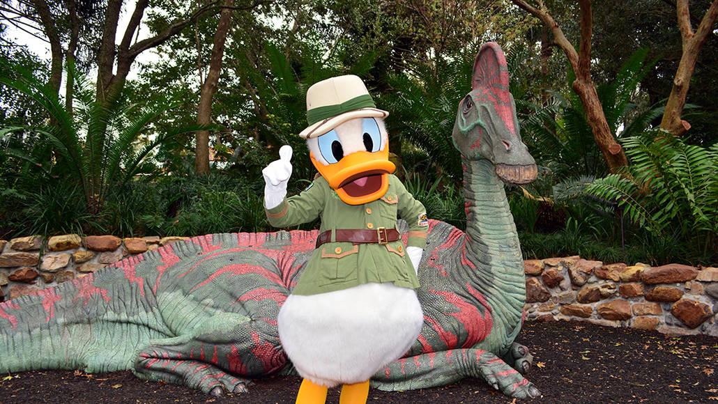 Walt Disney World, Animal Kingdom, Character Changes, January 2014, Donald Duck, Cretaceous Trail