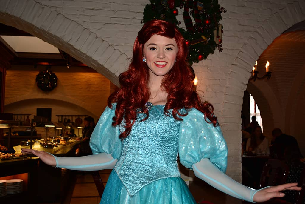 Walt Disney World, Epcot, Akershus Royal Banquet Hall, Princess Character Meal, Ariel
