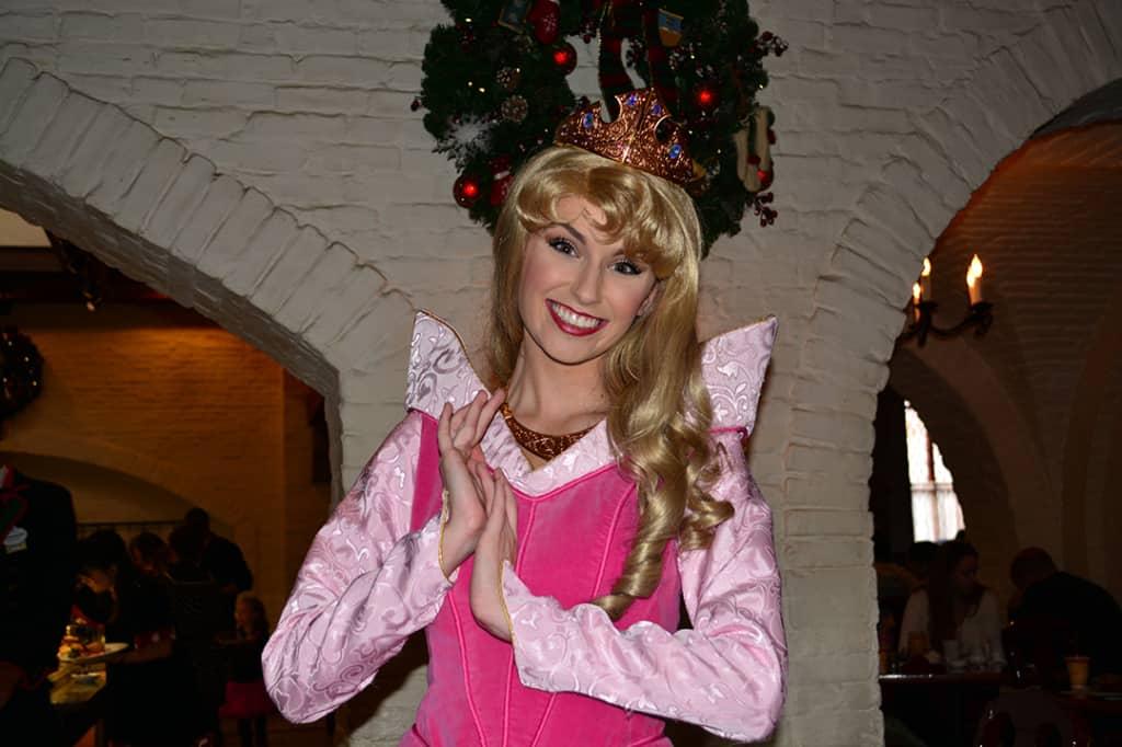 Walt Disney World, Epcot, Akershus Royal Banquet Hall, Princess Character Meal, Aurora, Briar Rose, Sleeping Beauty