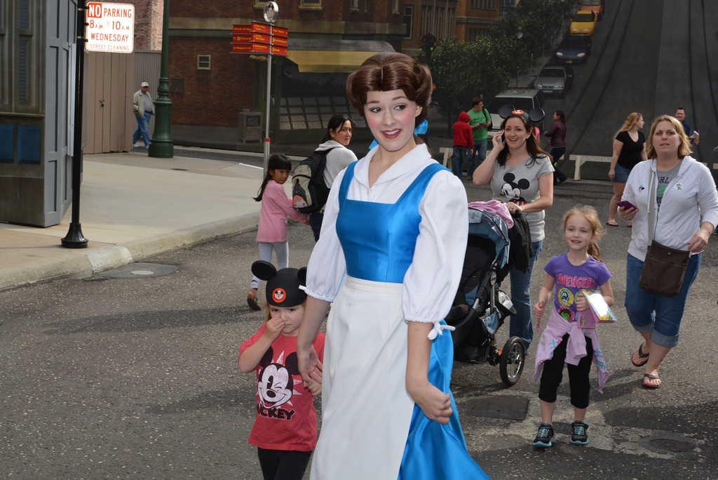 Walt Disney World  Hollywood Studios  Streets of America  Character    Disney World Belle 2014